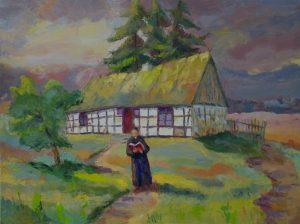 Dom rodzinny księdza Leona Heyke, obraz autorstwa Bronisława Melzer